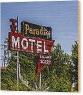Paradise Motel Wood Print