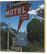 Paradise On Route 66 Wood Print