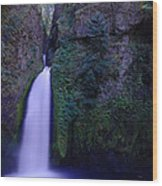 Paradise Pours Wanclella Falls Oregon Wood Print