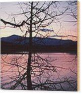 Paradox Lake Sunset II Wood Print