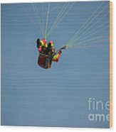Paragliding Wood Print