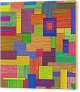 Parallelograms Wood Print