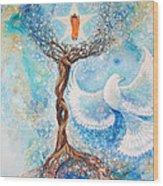 Paramhansa Yogananda - Mist Wood Print