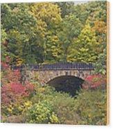 Parapet Bridge Wood Print