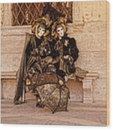 Parasol Lovers  Wood Print
