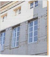 Windows In Shade Wood Print