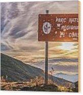 Parc Natural De Corse In The Balagne Region Of Corsica Wood Print