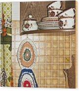 Parental Home 01 - Kitchen Detail Wood Print