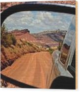 Paria In My Rearview Wood Print by Carrie Putz