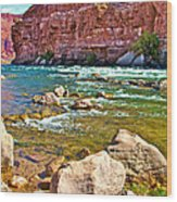 Pariah Riffle Near Lee's Ferry In Glen Canyon National Recreation Area-arizona Wood Print