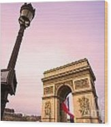 Paris - Arc De Triomphe  Wood Print