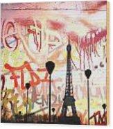 Paris 15 Wood Print