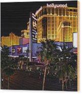 Paris And Planet Hollywood - Las Vegas - 01131 Wood Print