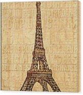Paris Wood Print