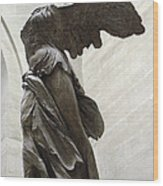Paris Angel Louvre Museum- Winged Victory Of Samothrace Wood Print