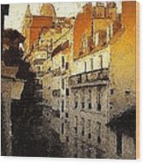 Paris Apartment View Of Montmartre Wood Print