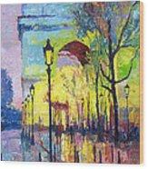 Paris Arc De Triomphie  Wood Print by Yuriy  Shevchuk
