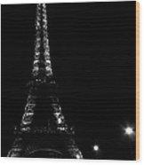 Paris At Night Wood Print