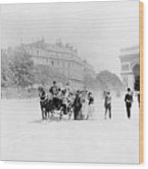 Paris Avenue Foch, C1895 Wood Print
