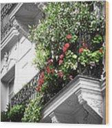 Paris Balcony Wood Print