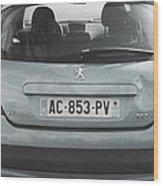 Paris Blue Peugeot Wood Print