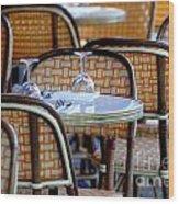 Paris Cafe 2 Wood Print