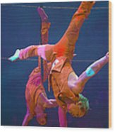 Paris Circus Acrobats Wood Print