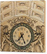 Paris Clocks 2 Wood Print by Andrew Fare