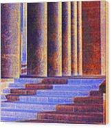 Paris Columns Wood Print by Chuck Staley