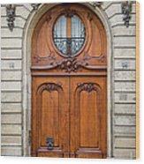Paris Doors Wood Print