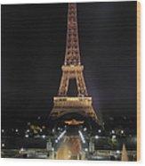 Paris: Eiffel Tower Wood Print