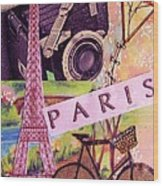 Paris  Wood Print by Eloise Schneider