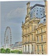 Paris Ferris Wheel Wood Print