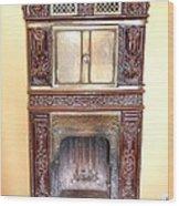 Paris Fireplace Wood Print