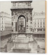 Paris Fountain, C1858 Wood Print