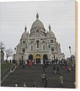 Paris France - Basilica Of The Sacred Heart - Sacre Coeur - 12125 Wood Print by DC Photographer