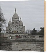Paris France - Basilica Of The Sacred Heart - Sacre Coeur - 12129 Wood Print