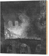 Paris, France Fire, 1773 Wood Print