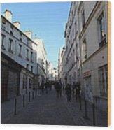 Paris France - Street Scenes - 01131 Wood Print by DC Photographer