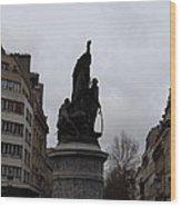 Paris France - Street Scenes - 0113129 Wood Print by DC Photographer