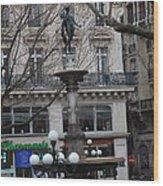 Paris France - Street Scenes - 011334 Wood Print by DC Photographer