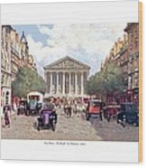Paris France - The Rue Royal And The Madeleine - 1910 Wood Print