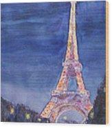 Paris Giant Wood Print