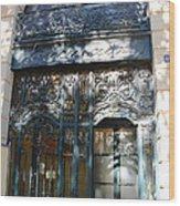 Paris Guerlain Storefront Boutique - Paris Guerlain Blue Door Art Nouveau Art Deco Door Wood Print