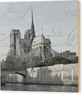 Paris History Wood Print