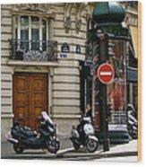 Paris Holiday Wood Print
