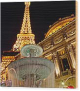 Paris Hotel And Casino In Las Vegas Wood Print