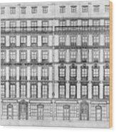 Paris Houses, 1841 Wood Print