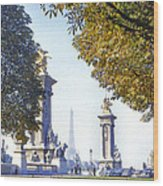 Paris In The Fall 1954 Wood Print by Chuck Staley
