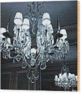 Paris Laduree Sparkling Crystal Chandelier - Laduree Chandelier Art Wood Print